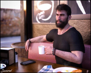 Morning Coffee by Sazariel