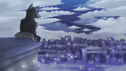 Lifely city at night [Comission]