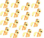 mlp simple background applejack