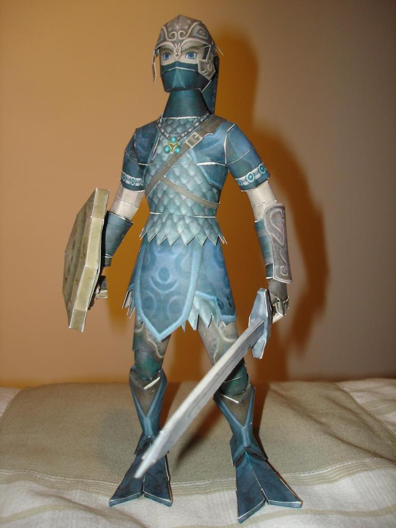 Zora Armor Link Papercraft by BrunoPigh