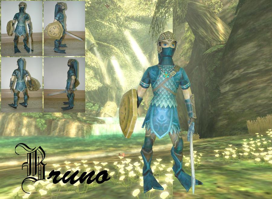 TP: Zora Armor Link Papercraft by BrunoPigh