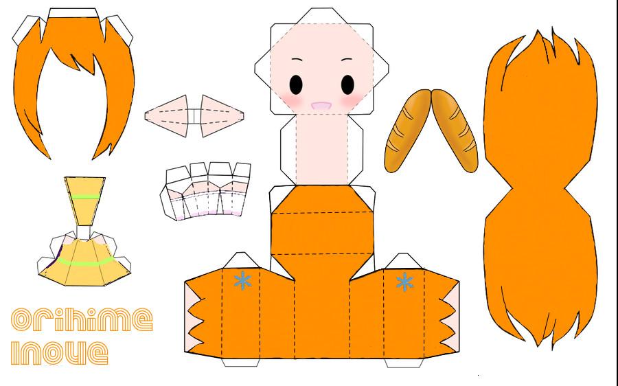 Orihime papercraft by Kyo-Muze