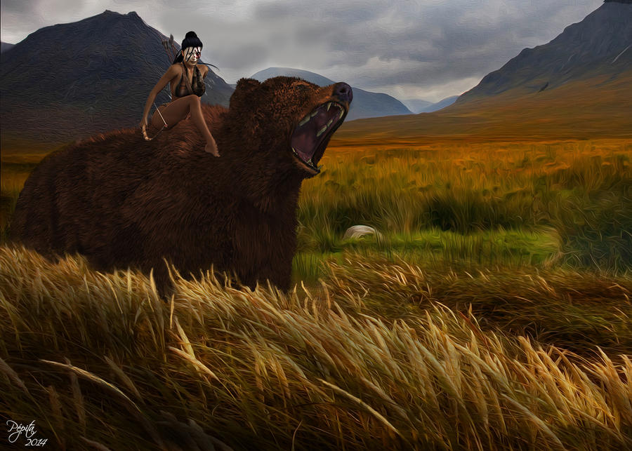 L'ours Et L'amazone by PEPITA75