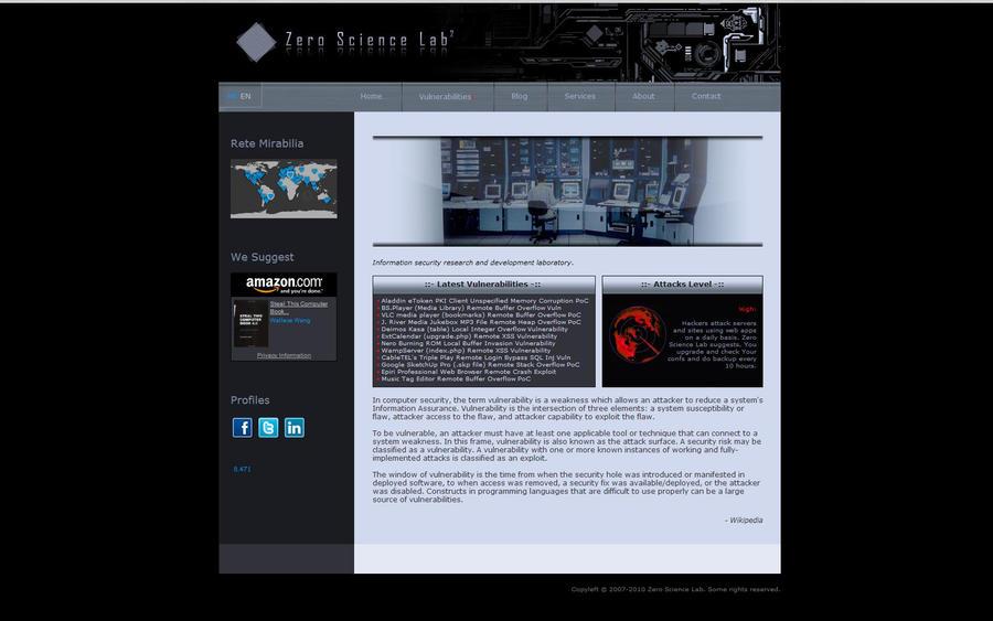 Zero Science Lab Web by liquidworm