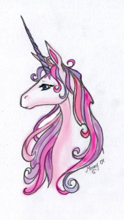 The Last Unicorn :raw colored: by liquidworm on DeviantArt Zombie Head Stencil