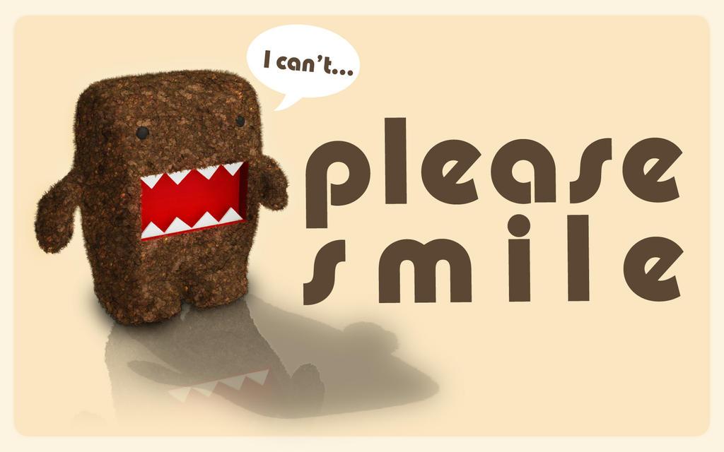 Please Smile Domo Kun by ~Eonn