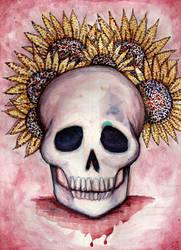 Skull and Sunflowers v.2
