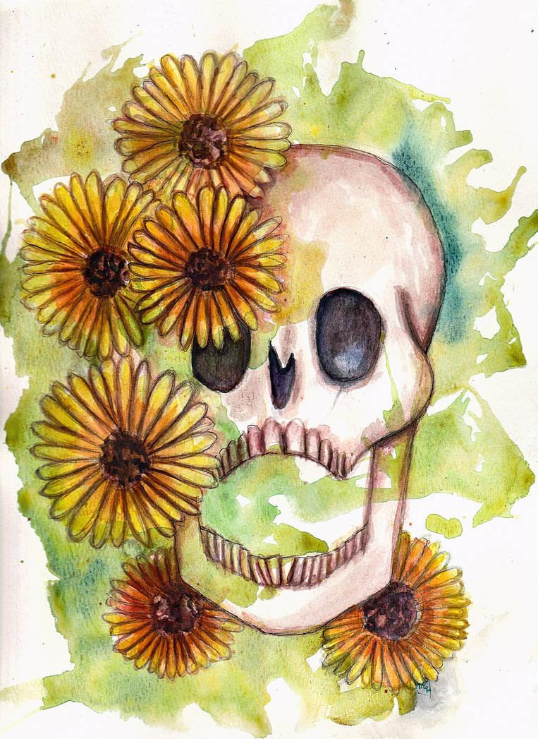 Skulls and Sunflowers V.3