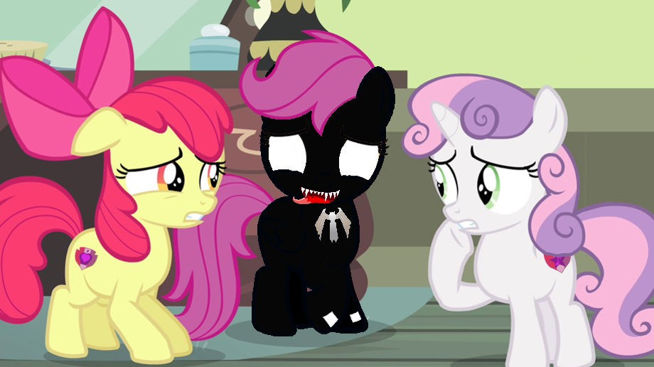 Sweetie Belle And Apple Bloom Meet Venom Scootaloo