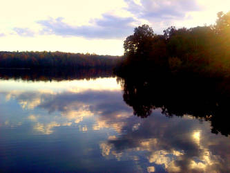 Lake at Dusk by Hippiethecat124