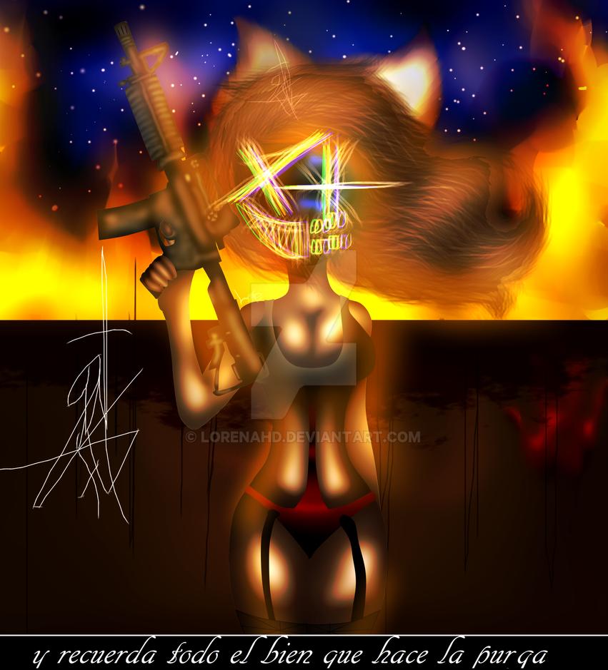 The Purge (fan Art) by LorenaHD