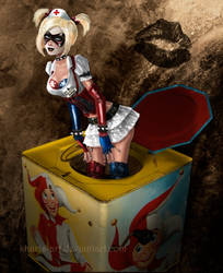 Arkham Harley in the Box by kharis-art
