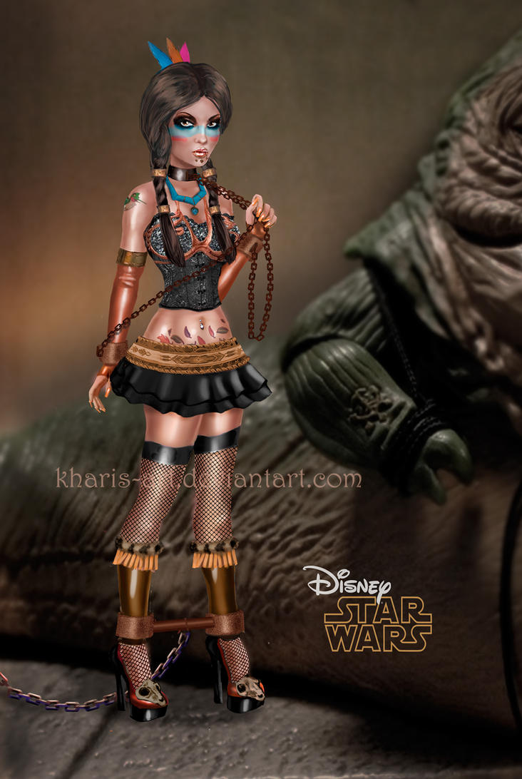 Pocahontas and Jabba by kharis-artOola And Leia Submit To Jabba