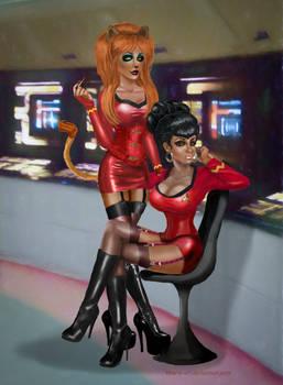 Uhura and M'Ress - Star Trek