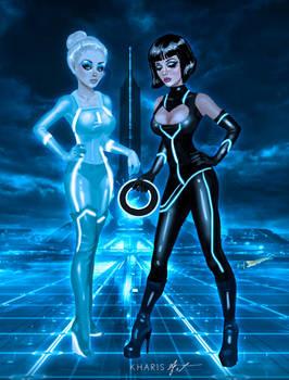 Tron Girls - Quorra and Gem