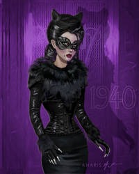 Catwoman 80th Anniversary by kharis-art