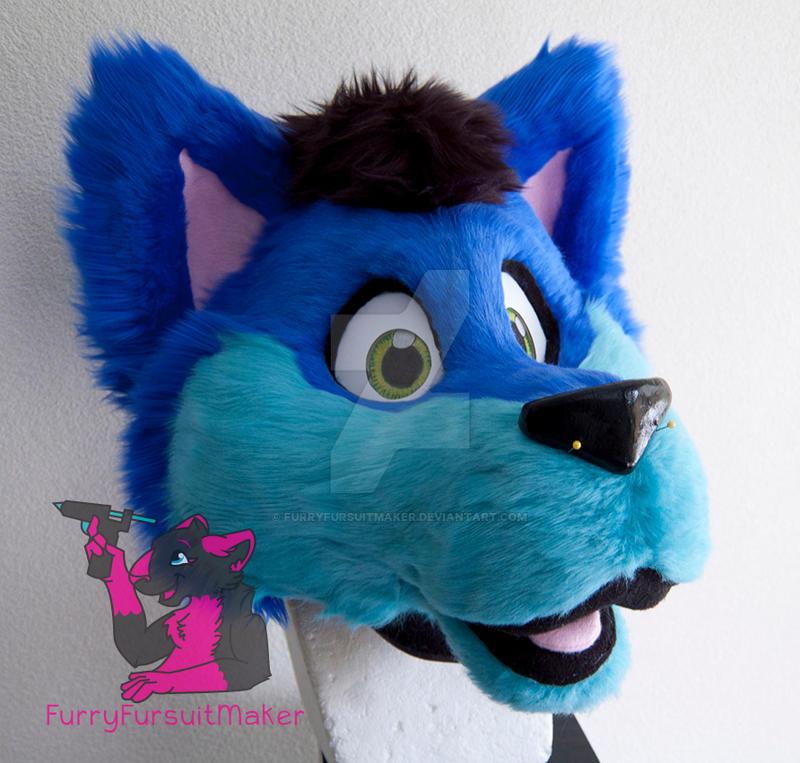 Geo the wolf WIP by FurryFursuitMaker