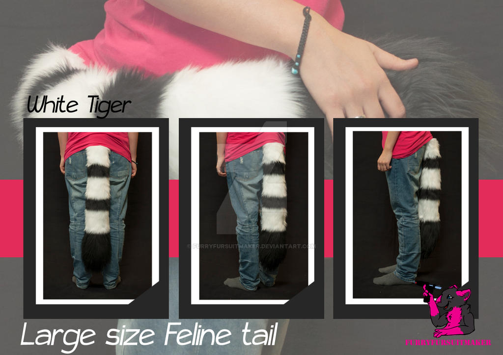 Normal size Feline tail - tiger by FurryFursuitMaker