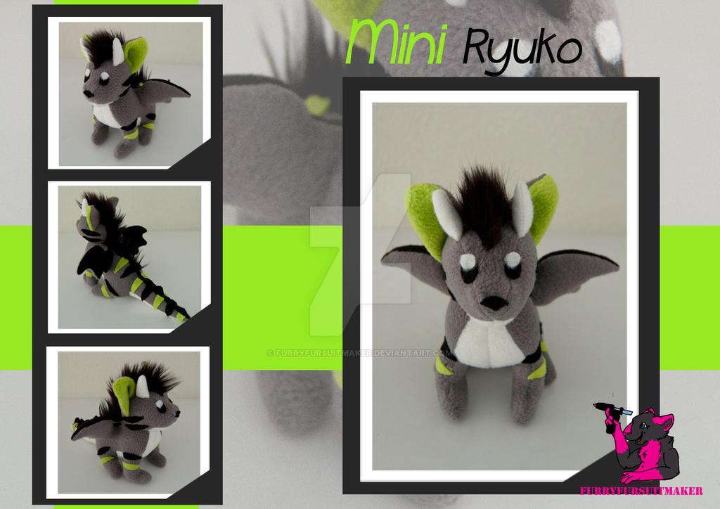 MINI Ryuko - Plush by FurryFursuitMaker