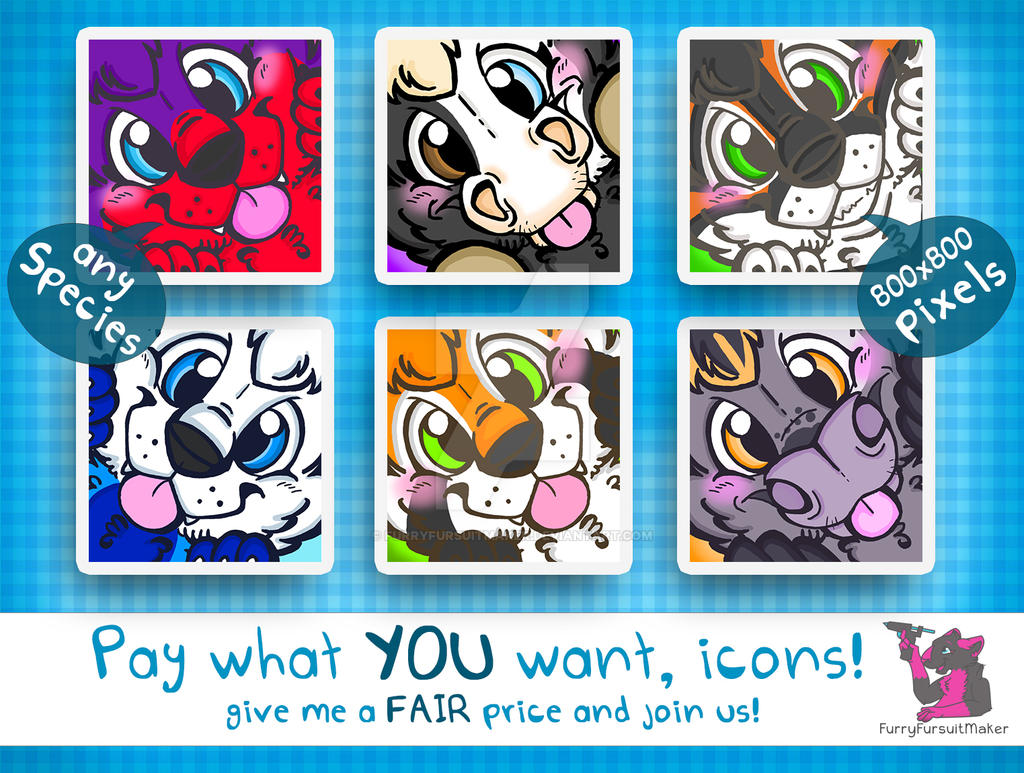 Pay what YOU want - Icons by FurryFursuitMaker