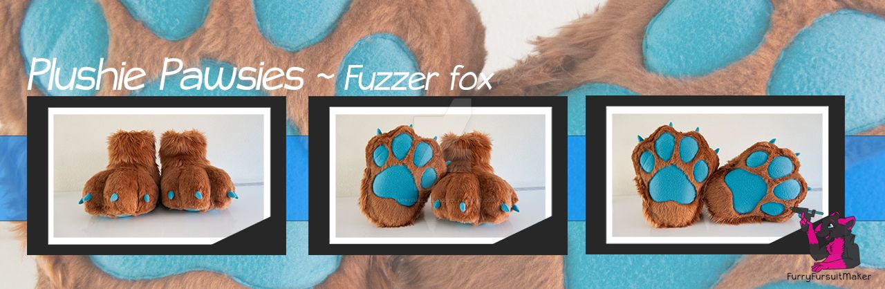 Plushie Pawsies - Fuzzer Fox by FurryFursuitMaker