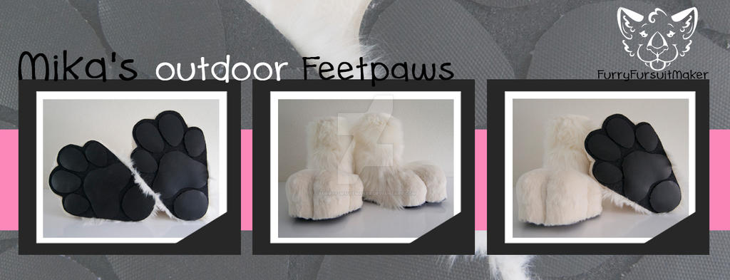 Mika's feetpaws - outdoor by FurryFursuitMaker