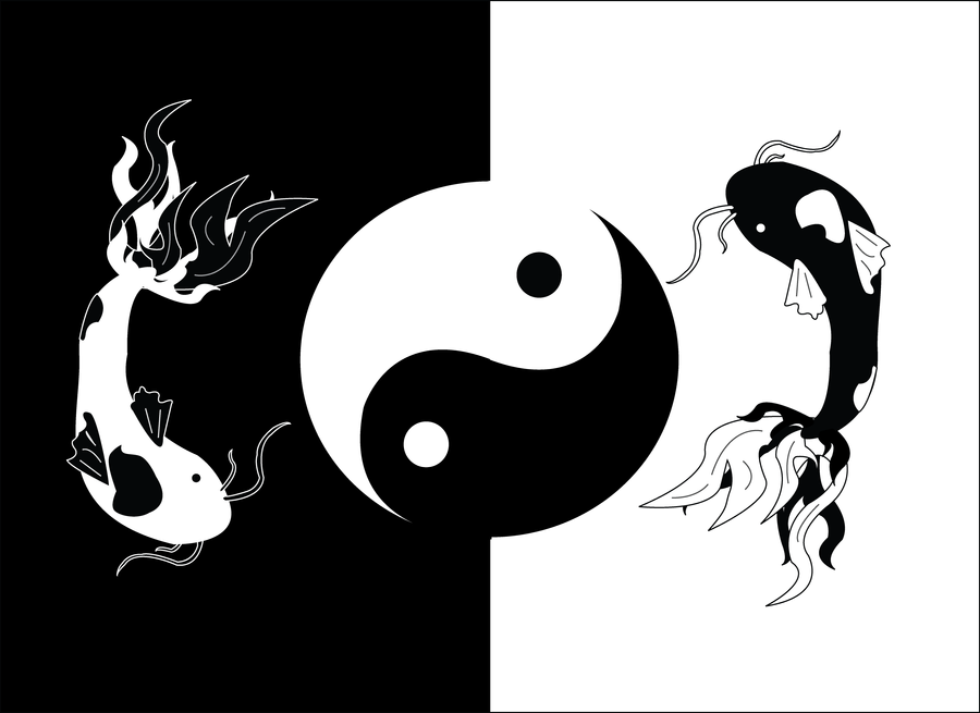 Yin Yang Koi Fish Tattoo Designs