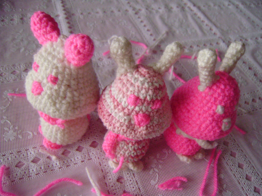Breast Cancer Amigurumi by neko-of-lotherian