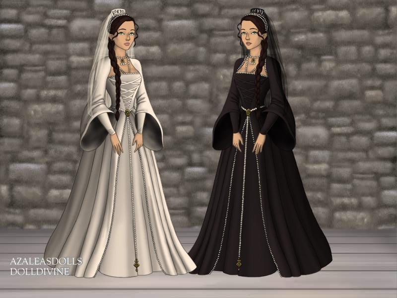 Katniss Wedding Dress by Black-Dia
