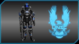 Spartan IV Recruit BLUE Wallpaper