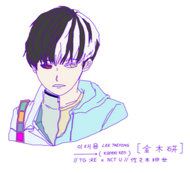 taeyong x kaneki/haise fanart by ai-koku
