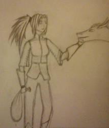 My sister - Dragon Tamer by SpikeyGirl