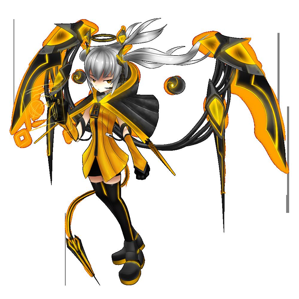Brave Frontier Character Design Contest : Dusk archeron brave frontier art contest by blackhole