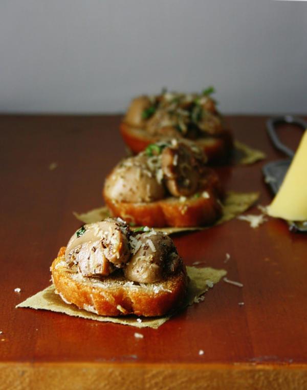 Mushrooms on toast by sasQuat-ch