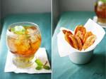 Mint Iced Tea and Banana Chips