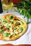 Zucchini,Chilli and Mint Pizza