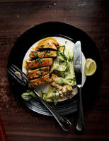 Chicken Roulade with Zucchini Salad by sasQuat-ch