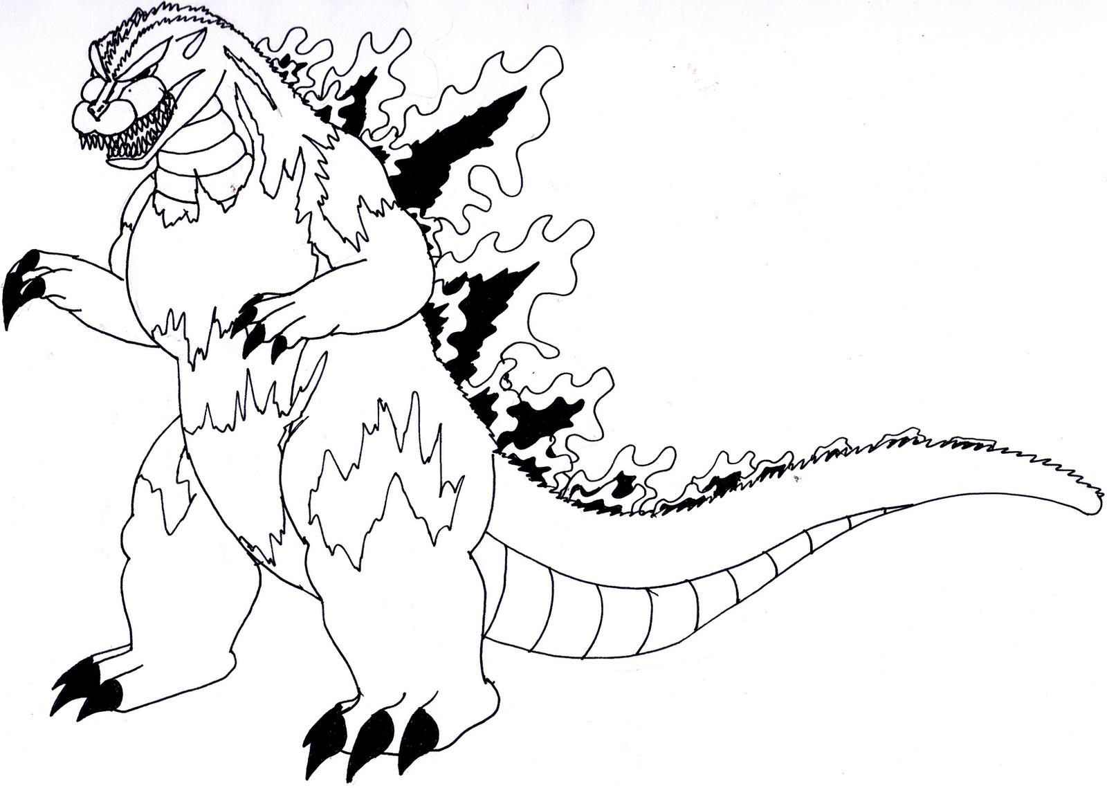 Gmod coloring pages - Gigan05 9 7 1995 Godzilla No Detail By Thegmodgirl