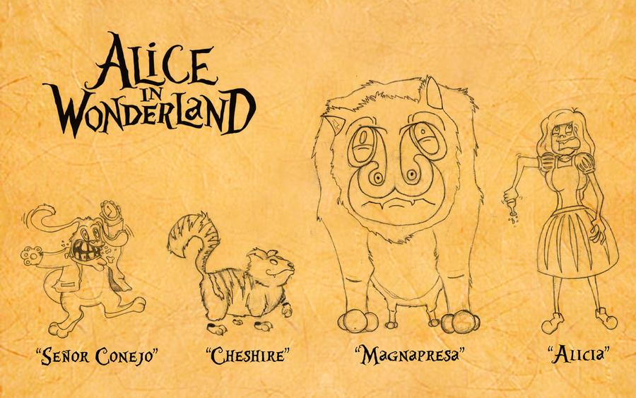 Alice In Wonderland Sketches By Sonisykes On Deviantart