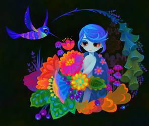 Wildflower fairy by pikaole
