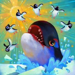 Run penguin, run! by pikaole