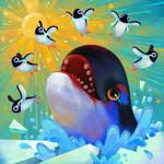 Run penguin, run!