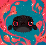 Angry puffer
