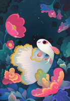 Flower guppy by pikaole