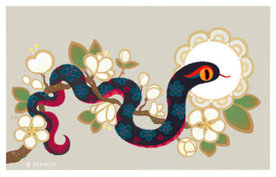 Snake and flowers 2