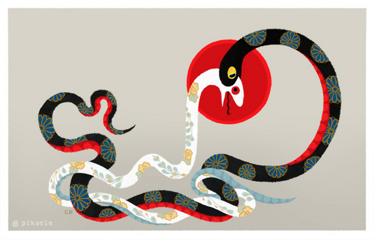 Snake and flowers 3