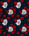 Bettas and Poppies - pattern