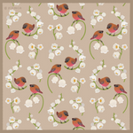 Brown capped rosy finch pattern