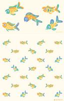 Pastel fish pattern by pikaole