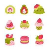 Strawberry Matcha by pikaole